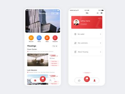 Housing - Mini program UI design