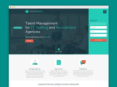 TalentFalco design web ui ux frontend website homepage landingpage singlepage