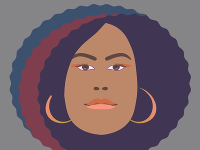 Minimal Vector Portrait of Courtney illustration portrait vector illustrator