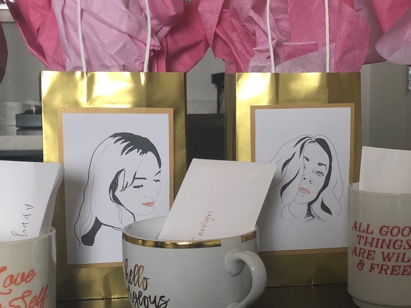 Bridesmaids design bachelorette bridesmaids illustrator portrait illustrations illustration