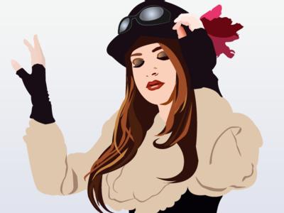 Steampunk Girl vector steampunk woman portrait adobe illustrator design illustration