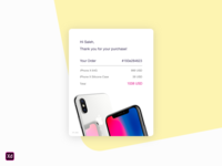 Dailyui 017 Email Receipt