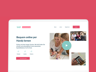 Bidi.One animation art app website web ux ui logo design branding