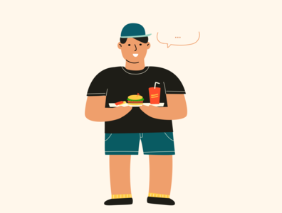 Hungry Fat Boy ui human fat boy illustrator design character design drawing illustration character