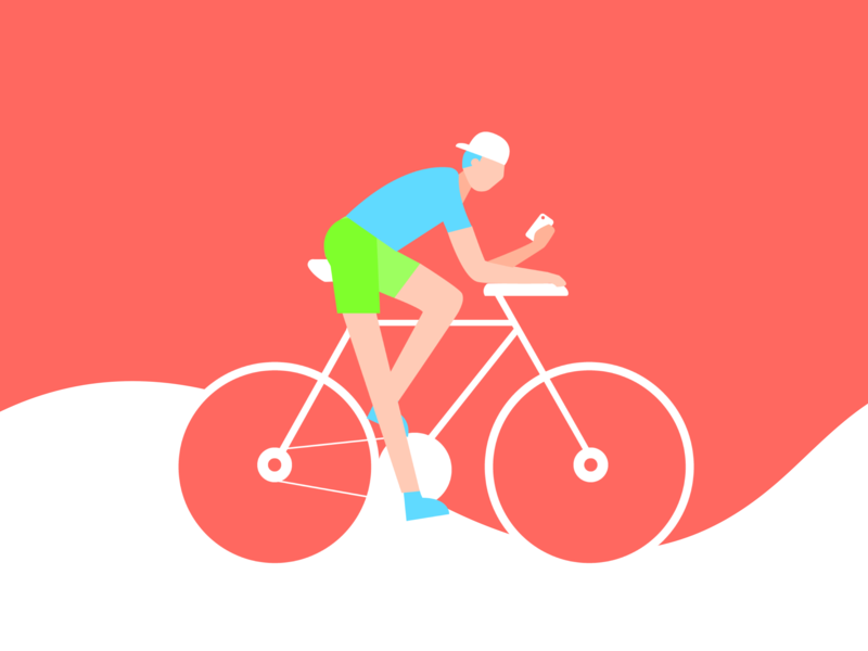 Cycling illustration bicycle cyclist sport bike ride cycling bike illustration ux uiux ui dailyui