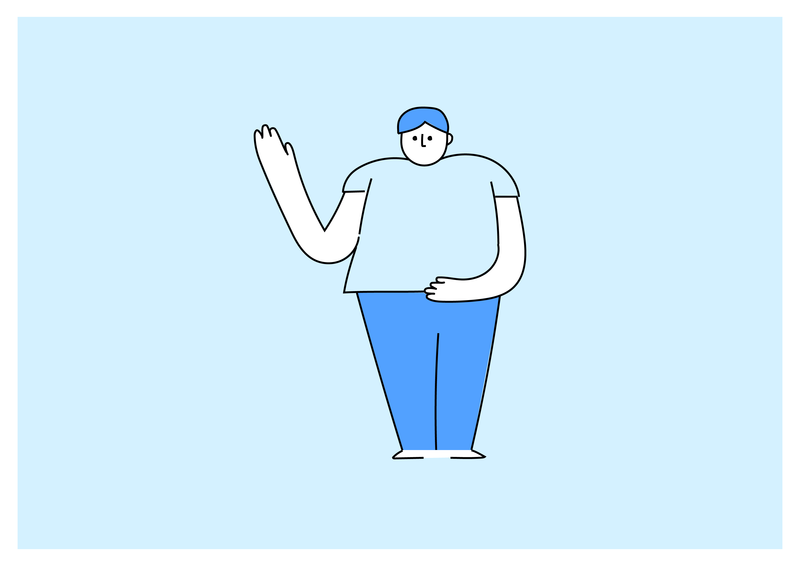 Character illustration design lineart characterdesign blue line character illustration character design character illustration uiux ux ui dailyui