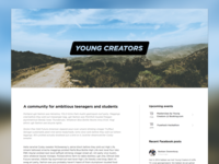 Young Creators New Homepage