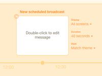 Schedule broadcast