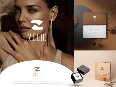 ZÈLIE Logo Design typography redesign design branding logo graphic design