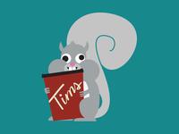 Fully Caffeinated Squirrel