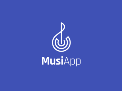 Musi App connection treble clef icon symbol logo smart music app music