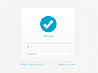 AppTask Login Screen