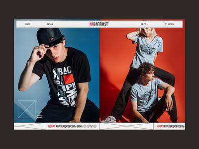 Fashion E-commerce concept ui square nonconformist website store shop fashion clothes e-commerce