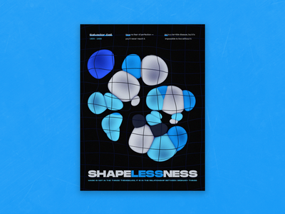 Poster salvador dali shape elements blue grid lines soft spheres physician c4d42 cinema 4d poster