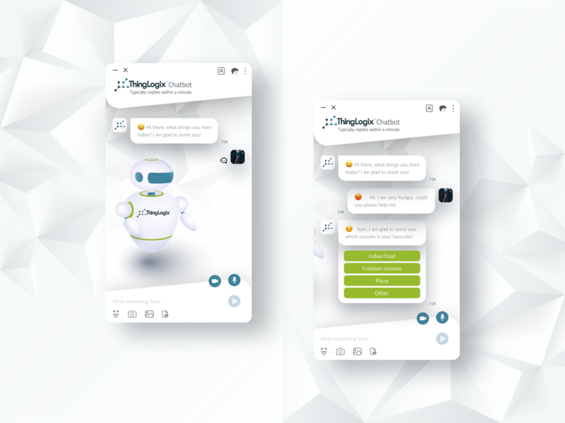 Chatbot UX/UI Design chat app chatbot chat user interface