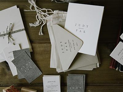 Judy Pak Stationery branding photography letterpress stationery
