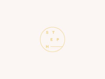 S T E P H sans serif circle photography logo branding logo