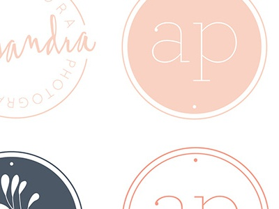 Alisandra photography logo elements w