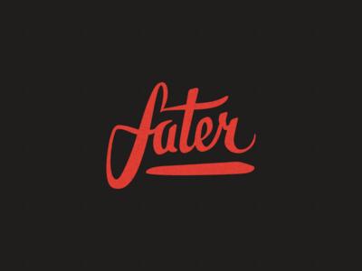 Fater handwritten lettering typography typo