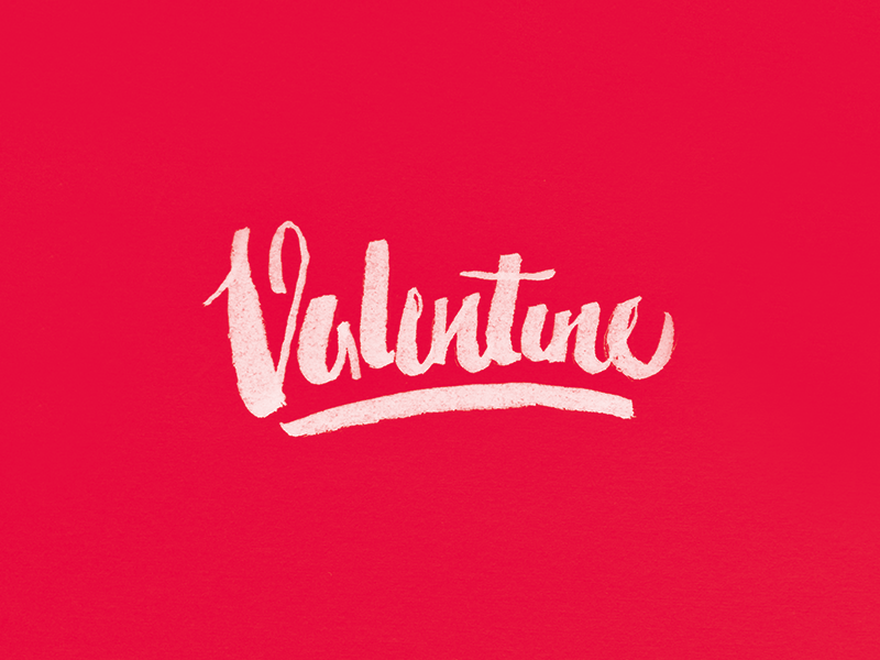 Valentine brush pen valentine typography