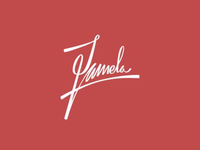 Pamela pamela dallas typography handwriting