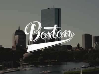 Boston boston typography handstyle custom type lettering