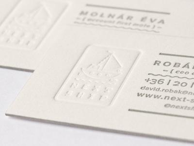 Next Ship business card next ship business card custom type fish logo letterpress