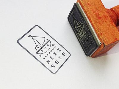 Next Ship mini stamp next ship custom type fish logo stamp