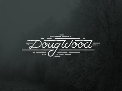 Doug Wood  logotype handrawn typography logo doug wood hand style