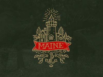 Maine maine t-shirt graphic lighthouse moose lobster anchor