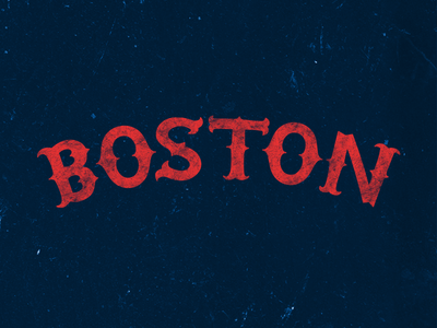 Boston boston typography handcrafted vintage red sox