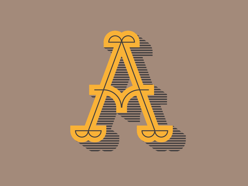 A a letter typography alphabet type