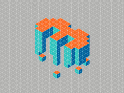 3 three number isometric typography 3