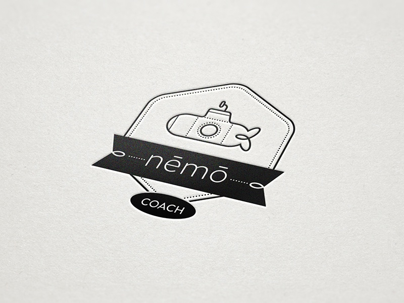 Nemo logotype nemo logotype brand submarine identity