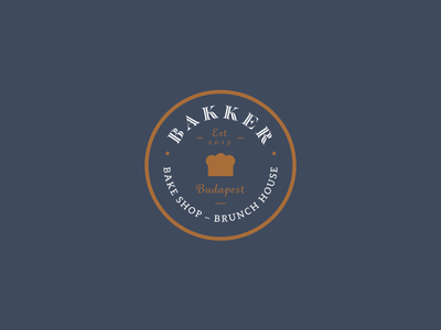 Bakker bake shop bakker brunch house logotype