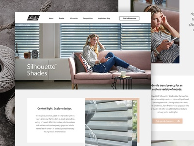 Luxaflex Product Pages digital interactive web design ux ui blinds outpost agency home interiors