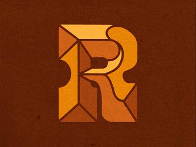Letter Challenge procreate hand lettered lettering funky bevel slab retro letter r