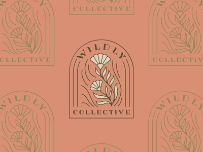 Wildly Collective Primary Logos logo design design logo hand lettered brand identity branding procreate hand lettering illustration