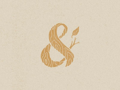 Woodgrain Ampersand wood wood grain ampersand