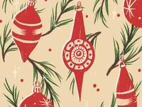 Retro Christmas Bulbs