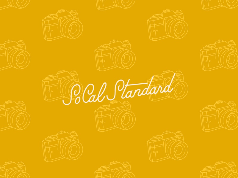 SoCal Standard Preview camera brand identity icon branding wordmark hand lettered hand lettering