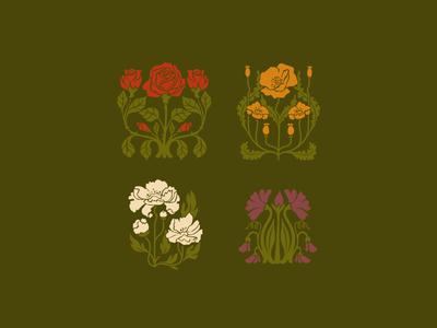 Unused Floral Icons