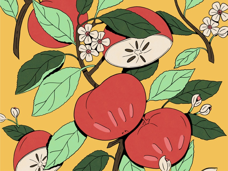 The Ultimate Book of Plants and Gardens flower plants botanical apple illustration