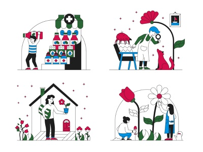 The Allergy Fightback allergy illustrations illustrator