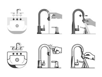 Delta icons proposal icon design icon faucets technology illustration