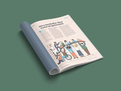 Läraren Magazine infographic people teacher union illustration school