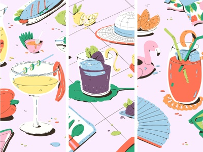 Summer Cocktails and the Occasions to Match drinks illustration cocktails