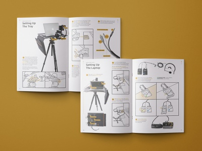Live Tour Kit Manual icon design infographic illustration instruction