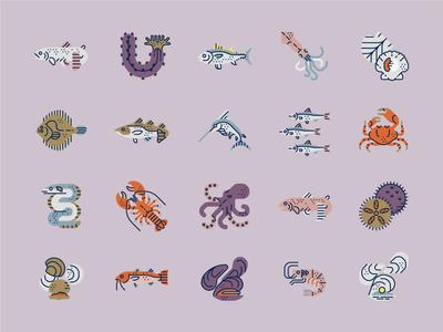 Underwater Icon set