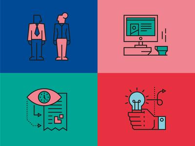 B2B icons technology business finance illustration icons